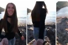 ΒΙΝΤΕΟ ΣΟΚ: Σπρώχνει την κοπέλα του και την ρίχνει από βράχο