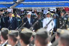 Ο ΥΕΘΑ Πάνος Καμμένος στην τελετή ορκωμοσίας των νέων Ανθυπολοχαγών τάξεως 2017 στη Στρατιωτική Σχολή Ευελπίδων