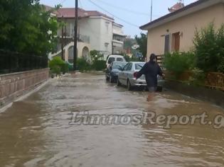 Φωτογραφία για Πλημμύρισε η Λήμνος: Φούσκωσαν ποτάμια και δρόμοι έγιναν ένα με την θάλασσα... [photos]