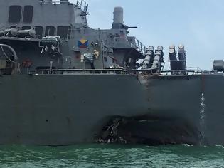 Φωτογραφία για Η ζημία στο αμερικανικό αντιτορπιλικό μετά το ναυτικό ατύχημα - Εντυπωσιακές ΦΩΤΟ