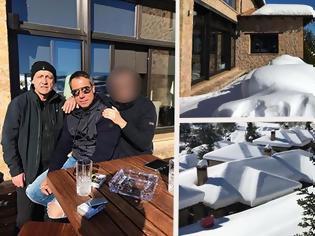 Φωτογραφία για Τα... τσίπουρα γνωστού παρουσιαστή στα χιόνια! [photos]