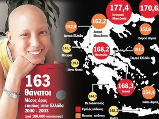Φωτογραφία για Αποκάλυψη! Αυτές είναι οι περιοχές της Ελλάδας που θερίζει ο καρκίνος