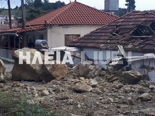 Φωτογραφία για Ηλεία Λέπρεο : Βράχοι διέλυσαν σπίτι - Η οικογένεια είχε φύγει πριν λίγες ημέρες