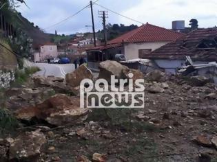 Φωτογραφία για Ηλεία: Σοβαρές κατολισθήσεις από την κακοκαιρία στο Λέπρεο – Ολόκληροι βράχοι αποκολλήθηκαν και κατέστρεψαν σπίτι (ΦΩΤΟ)