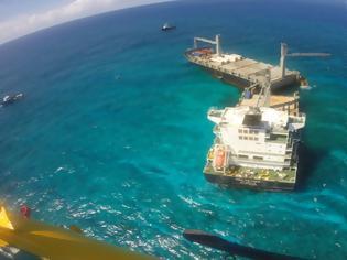 Φωτογραφία για Τα τμήματα του ελληνικού πλοίου Kea Trader παραμένουν στην τοποθεσία προσάραξης