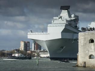 Φωτογραφία για HMS Queen Elizabeth: Στην πρώτη του αποστολή το αεροπλανοφόρο της Μεγάλης Βρετανίας