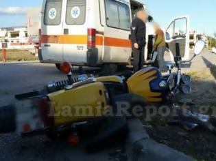 Φωτογραφία για Λαμία: Τροχαίο με μηχανή σε διασταύρωση «καρμανιόλα» [photos]