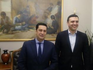 Φωτογραφία για Συνάντηση Δημάρχου Αγρινίου Γιώργο Παπαναστασίου με τον Βουλευτή Α' Αθηνών της Νέας Δημοκρατίας Βασίλη Κικίλια