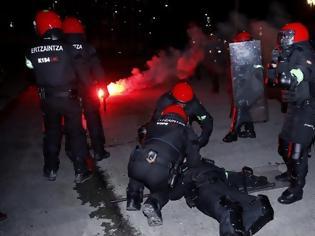 Φωτογραφία για Νεκρός αστυνομικός σε επεισόδια με τους οπαδούς της Σπαρτάκ Μόσχας στο Μπιλμπάο