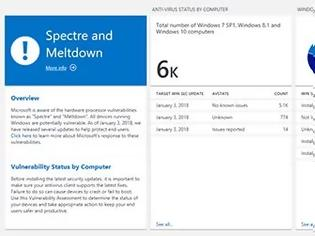 Φωτογραφία για Windows Analytics ελέγχει για Spectre & Meltdown