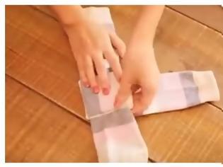 Φωτογραφία για Το κόλπο για να διπλώνετε σωστά τις κάλτσες [video]