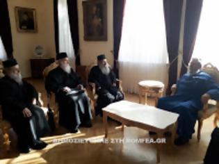 Φωτογραφία για 10306 - Ο Ηγούμενος της Ιεράς Μονής Σίμωνος Πέτρας Ελισσαίος στον Αρχιεπίσκοπο Κύπρου
