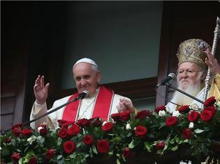 Φωτογραφία για Ο Πατριάρχης Βαρθολομαίος εξαίρει το γεγονός της σύμπτωσης προσανατολισμού με τον Πάπα Φραγκίσκο για την αποκατάσταση της διαρραγείσης ενότητος του Χριστιανικού κόσμου