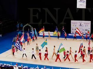 """Φωτογραφία για Η Εθνική ομάδα ανσάμπλ και αθλήτριες από 21 χώρες δίνουν λάμψη στο 4ο """"Aphrodite Cup"""""""