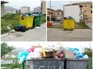 Φωτογραφία για Αμάζευτοι πολλοί κάδοι με σκουπίδια στον Μύτικα.