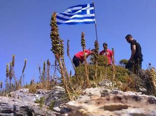 Φωτογραφία για «Έτσι βάλαμε τη σημαία στο Μικρό Ανθρωποφά - Θέλαμε να τιμήσουμε τον ήρωα Γιώργο Μπαλταδώρο»