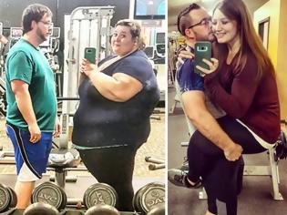 Φωτογραφία για Ζευγάρι έχασε συνολικά 180 κιλά και έβγαλε ξανά τις παλιές φωτογραφίες χωρίς τα περιττά … βάρη!