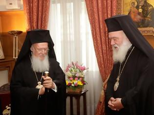Φωτογραφία για Μετά την ηχηρή απουσία του Αρχιεπισκόπου στο μοναστήρι του Οσίου Δαυΐδ: Έκτακτη συνάντηση Βαρθολομαίου με Ιερώνυμο την Δευτέρα