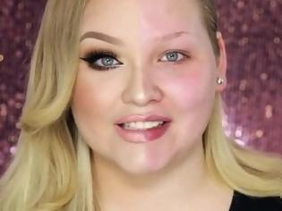 Φωτογραφία για ΑΠΙΣΤΕΥΤΟ: Το πριν και το μετά του μακιγιάζ στο ίδιο πρόσωπο. Δείτε το - Είναι εντυπωσιακό [video]