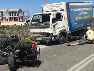 Φωτογραφία για Δυστύχημα με «γουρούνα» στην Σαντορίνη
