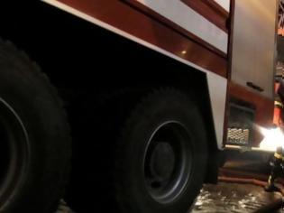 Φωτογραφία για Στις… φλόγες φορτηγό και απορριμματοφόρο στους δρόμους της Κρήτης
