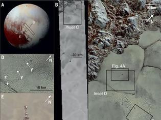 Φωτογραφία για Ανακαλύφθηκαν εκτεταμένοι αμμόλοφοι από μεθάνιο στον Πλούτωνα