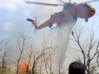 Φωτογραφία για Μεγάλη φωτιά στην Κρήτη - Σηκώθηκε το πυροσβεστικό ελικόπτερο