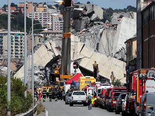 Φωτογραφία για Ιταλία: Εθνικό πένθος για την τραγωδία της Γένοβας - Βίντεο