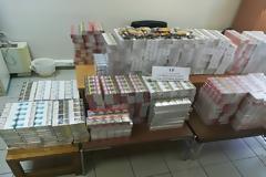 Κατασχέθηκαν πάνω από 5.000 λαθραία πακέτα τσιγάρων