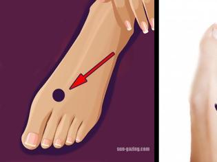 Φωτογραφία για Πιέστε αυτό το σημείο στο πόδι σας πριν πέσετε για ύπνο! [video]