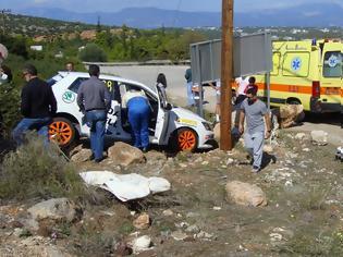 Φωτογραφία για Τροχαίο με αγωνιστικό αυτοκίνητο στη Ριτσώνα - Στο νοσοκομείο 47χρονος θεατής! (ΦΩΤΟ)