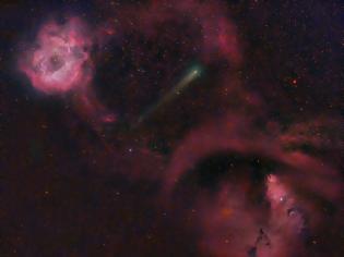 Φωτογραφία για Comet 12P Between Rosette and Cone Nebulas