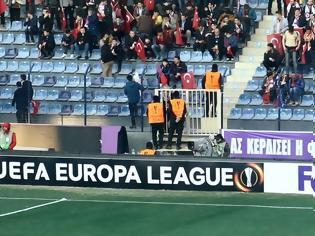 Φωτογραφία για ΜΗΝΥΜΑ ΦΙΛΙΑΣ ΑΠΟ ΤΟΥΣ ΤΟΥΡΚΟΥΣ: Το πανό που κρέμασαν οι οπαδοί της Οσμανλίσπορ!!!