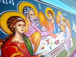 Φωτογραφία για Αγιογραφείται ο Ι.Ν. Αγίου Ιεροθέου στην Κομπωτή Ξηρομέρου δια χειρός Βασίλη Παλούκη: Ένα σπουδαίο έργο σε εξέλιξη!