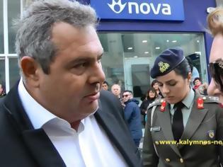 Φωτογραφία για Ο Υπουργός Πάνος Καμμένος στην κάμερα του kalymnos-news.gr για αναδρομικά ενστόλων και για ΣΟΑ