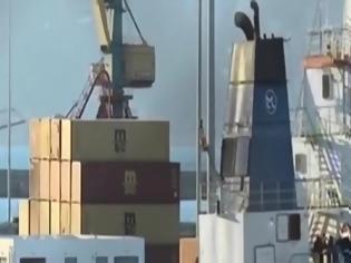 """Φωτογραφία για Κρήτη: Αυτό είναι το πλοίο που κουβαλούσε τόνους χασίς σε μορφή """"σοκολάτας"""" – ΒΙΝΤΕΟ"""
