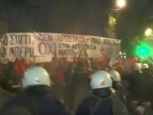Φωτογραφία για Επίσκεψη Μέρκελ: Επεισόδια και χημικά στο κέντρο της Αθήνας (BINTEO)