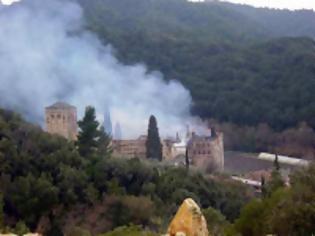 Φωτογραφία για 11765 - Συμπληρώθηκαν 15 χρόνια από την καταστροφική πυρκαγιά στην Ιερά Μονή Χιλιανδαρίου Αγίου Όρους