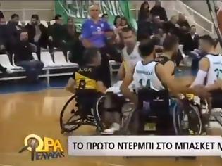 Φωτογραφία για Με πρωτοβουλία της ομάδας Παναθηναϊκός - ΑμεΑ οι αγώνες του πρωταθλήματος καλαθοσφαίρισης με αμαξίδιο, περιγράφονται σε τυφλό φίλαθλο