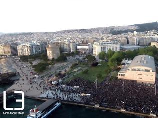 Φωτογραφία για Οι φίλοι του ΠΑΟΚ στο Λευκό Πύργο – Βίντεο και εικόνες από drone