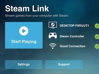 Φωτογραφία για Το Steam Link είναι διαθέσιμο σε iPhone / iPad και Apple TV τώρα