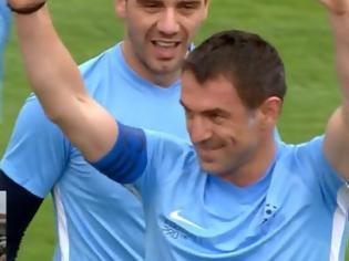 Φωτογραφία για Λευκάδα: Γκολάρες οι Έλληνες All Star στην ήττα από τη Μονακό 2004 (video)