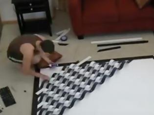 Φωτογραφία για Του ζήτησε να φτιάξει κάτι για να ομορφύνουν τον τοίχο του σπιτιού τους – Το αποτέλεσμα θα σας εντυπωσιάσει!
