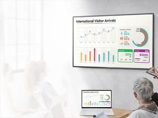 Φωτογραφία για Νέες Ultra HD οθόνες μεγάλου μεγέθους για επιχειρήσεις