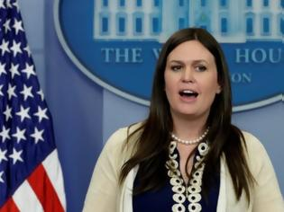 Φωτογραφία για Αποχωρεί από τον Λευκό Οίκο η εκπρόσωπος Τύπου Σάρα Σάντερς