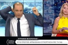 Άγριος τηλεοπτικός καβγάς Βελόπουλου με Στάη - Αποχώρησε από την εκπομπή