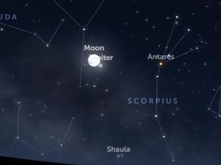 Φωτογραφία για Δείτε απόψε τον Δία κοντά στη Σελήνη