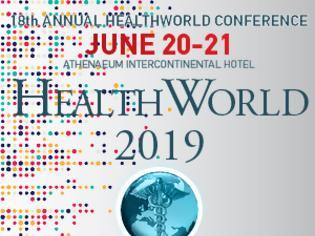 Φωτογραφία για 18ο Ετήσιο Συνέδριο HEALTHWORLD, 20 & 21 Ιουνίου, Αθήνα