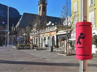Φωτογραφία για Δήμος στην Ιταλία έβαλε... μαξιλαράκια σε στύλους - Ένα έξυπνο μήνυμα κατά της εμμονής με τα κινητά