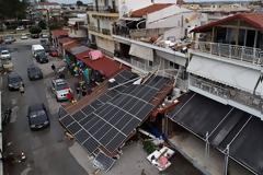 Η καταστροφή στη Χαλκιδική από ψηλά